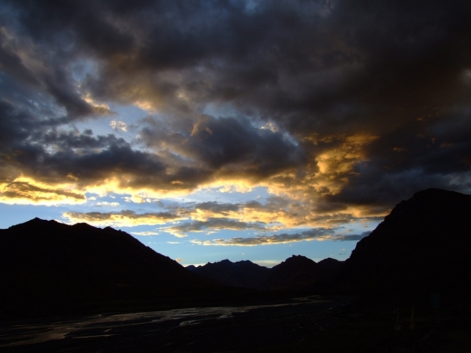 Sunset at Kaza, Himachal Pradesh, India. 2007